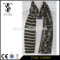 black and white two side ladies fashionable viscose scarf with skulls distributors in china