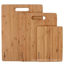 Placa de corte de bambu Freshware - tábuas de cortar madeira para preparação de alimentos, carne, legumes, frutas, biscoitos & queijo, conjunto de 3