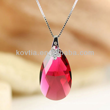 Charming teardrop red austrian crystal pendant