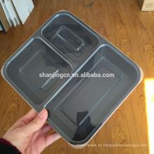 Contenedores de comida Premium Prep, tapa hermética, etiqueta privada, caja fuerte de plástico para microondas, 1,2,3compartment