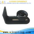 Rodillo de guía inferior negro / Herrajes para puertas corredizas corredizas
