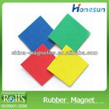 feuille magnétique doux cuboïde de caoutchouc coloré