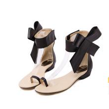 Sandalias planas de las señoras planas del nuevo diseño clásico (Y 65)