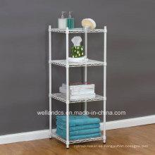 Revestimiento en polvo de metal Square Wire Livingroom Corner Rack / toalla Rack (CJ454590B4C)