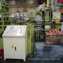 Machine horizontale de moulage de blocs de bloqueur de copeaux de cuivre