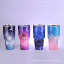 чашки звездное небо двойной стенкой вакуумной изоляцией бутылка для воды из нержавеющей стали вакуумные бутылки