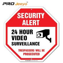 24 hour video surveillance traffic reflective sign board