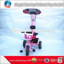 Neue populäre Fabrik Direktverkaufs-Kind-Sicherheits-Dreirad- / Baby-Dreirad-Spielzeug mit bequemem Handgriff-Stab und Dach