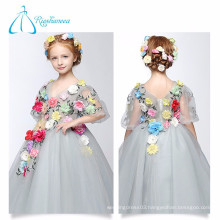 2017 Cute Ball Gown Tulle Cheap Little Queen Flower Girl Dress