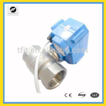 "2-way CR05 mini DC3-6V 3/4"" NPT Stainless Steel 304 motorized operated ball valve with 5wires"