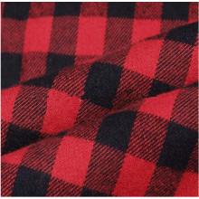 O fio quente da manta da venda tingiu a tela da flanela do algodão para camisas