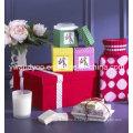 Bougie de soja parfumée décorative en verre avec boîte cadeau
