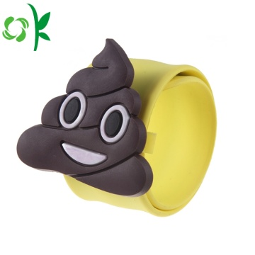 Fesyen silikon Emoji Simling Face Slap Watchbands Gelang