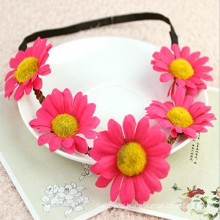 Garland Daisy Flower Bow Head Band (HEAD-105)
