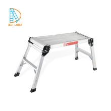 Big Folding Two Step Hop Up Aluminiumarbeitsplatz-Plattformleiter