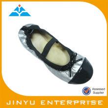 Sliver Ribbon Flat Roll Up Schuhe