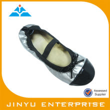 Sylver Ribbon Flat Roll up Shoes