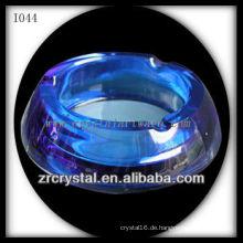 K9 Blauer runder Kristall Aschenbecher