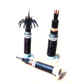 black and multi color Plastic insulated electrical boat power and control cable