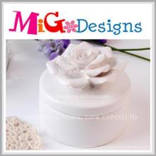 Charming Artware Craft Geschenk Keramik Blume Schmuckschatulle