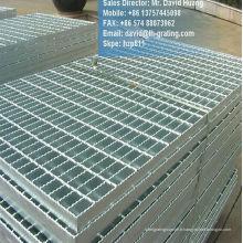 Grille à barres galvanisées, grille de plancher galvanisé, grille en acier galvanisé