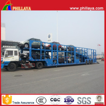 Auto Vehicle Transporter Chassis Semi Truck Hydraulic Car Carrier Trailer