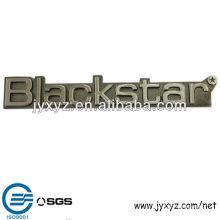 zinc coulage chrome métal logo