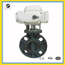 válvula de mariposa eléctrica del control proporcional con 4-20ma 0-10v para el control de flujo de agua