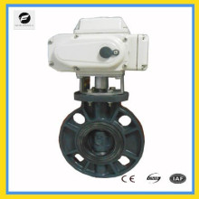 electric proportional control butterfly valve with 4-20ma 0-10v for water flow control