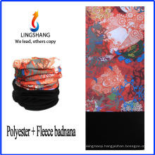 LINGSHANG multifunctional tube bandana warm headband polar fleece multifunctional bandana