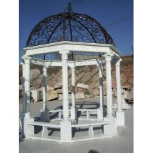 Outdoor Stone Carving Gazebo