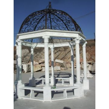 Gazebo en plein air de sculpture sur pierre