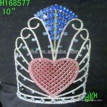 Corona del corazón de la belleza Corona del corazón de la belleza Corona del corazón de la tiara del día de tarjeta del día de San Valentín