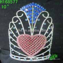 Pageant Короны красота сердце тиара День святого Валентина Pageant Короны красоты сердечная тиара
