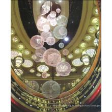 Fibre optique à bille décorative moderne