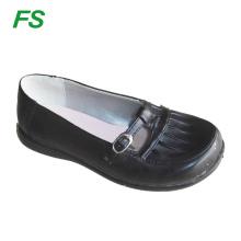 fashion teenage girls black school shoes