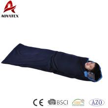 Sac de couchage de polaire anti-boulochage fait sur commande de promotion pour le camping en plein air