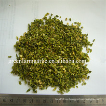 Pimiento verde orgánico secado