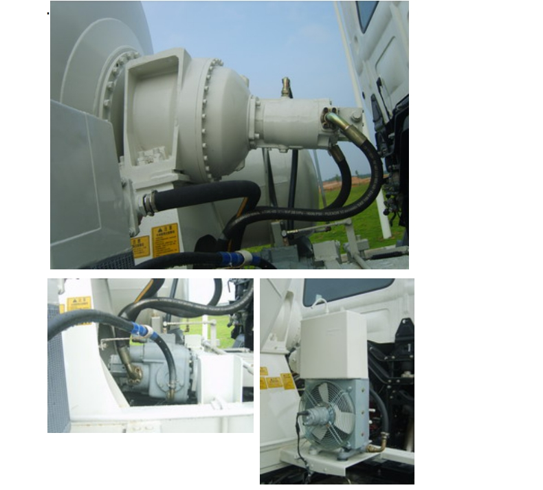 Japan Concrete Mixer Truck main parts