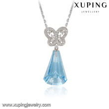 32802-925 sterling silver color pendant Crystals from Swarovski, blue stone bell necklace pendant