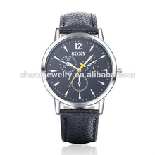 Cheap Simple Fashion Quartz Leather Strap Watch SOXY008