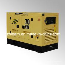 Sistema de generador diesel refrigerado por agua Silent Canopy (GF2-70KW)
