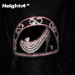 4inch Height High Heel Shoe Pageant Crowns