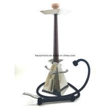 Novo Design De Aço Inoxidável De Madeira Nargile Narguilé cachimbo Hookah Shisha