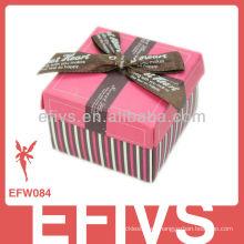 2013 Decorado Bow-Tie Wedding Favor caja hecha en China