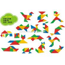 JQ1061 Hotsale crianças criativas criativo plástico Tangram Domino Puzzle Toy