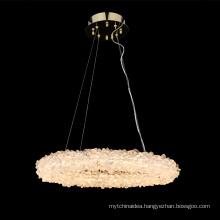 Modern art decorative ceiling pendant light rock crystal chandelier