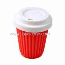 2013 Reusable Silicone Coffee Cup With Lid