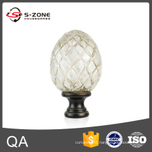 Cheap price 1'' crystal glass curtain rod finials