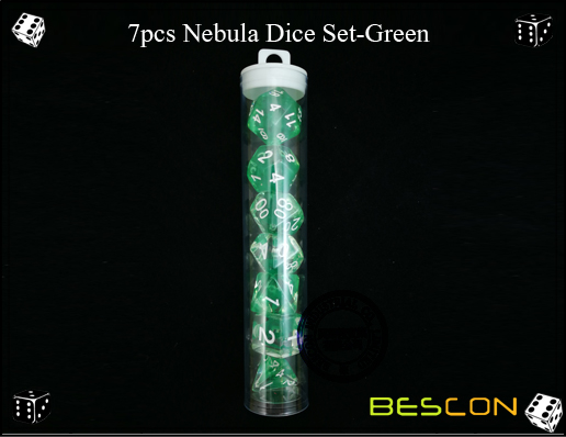 7pcs Nebula Dice Set-Green-e